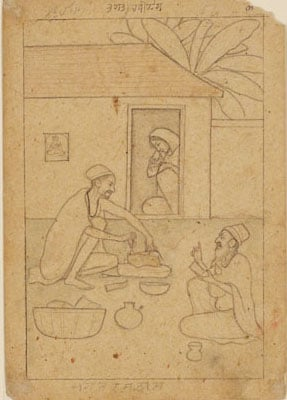 Collection of 158 paintings and drawings