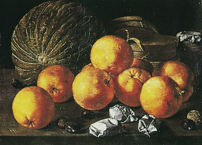 Still Life with Citrus Fruit and Nuts