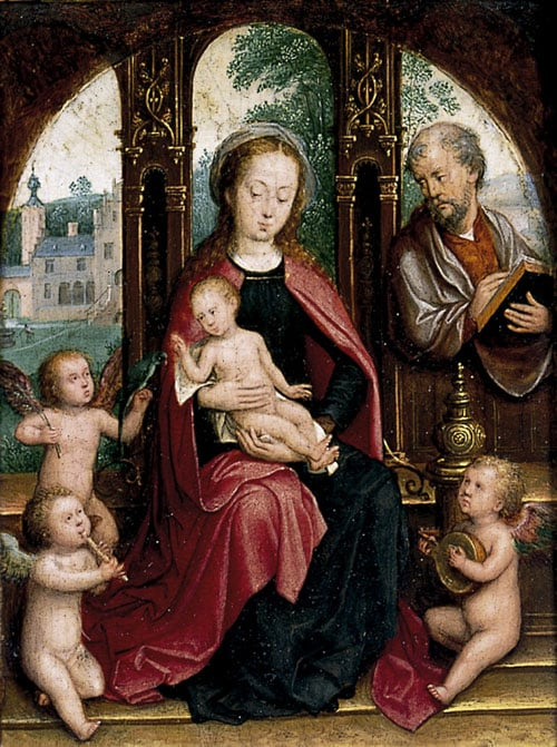 The Virgin and Child, with Joseph and Angels