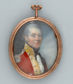Miniature portrait of a field officer of line infantry