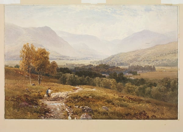 Landscape with distant mountains