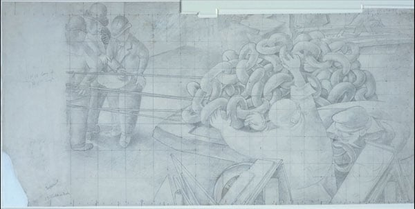 141 Studies for 'Shipbuilding on the Clyde'