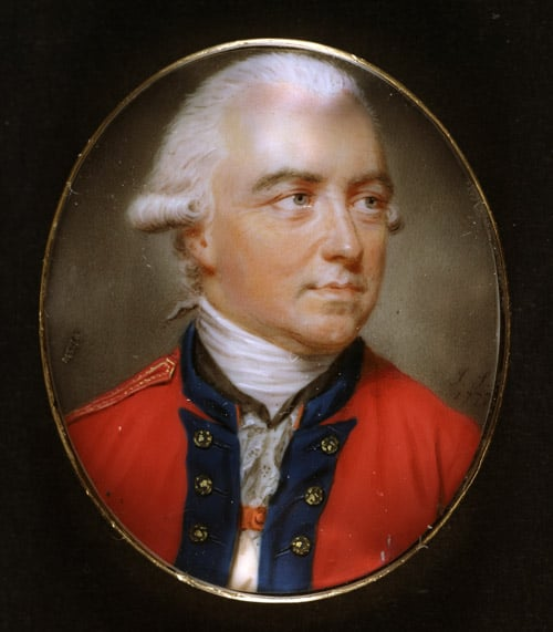Minature Portrait of General Sir Henry Clinton