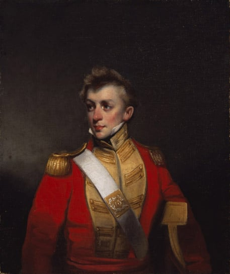 Portrait of officer in the Battalion Company, 13th Bombay Native Infantry