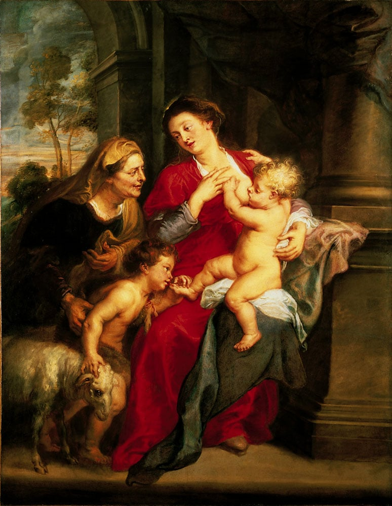 The Virgin and Child with St Elizabeth and the Infant Baptist