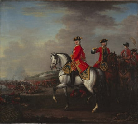 King George II at the Battle of Dettingen, with the Duke of Cumberland and Robert, 4th Earl of Holderness