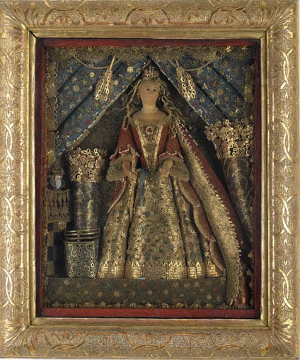 Quilled picture: Statuette of Queen Anne