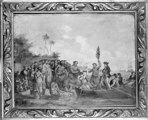 Landing of Captain Cook at Middleburg, Friendly Islands