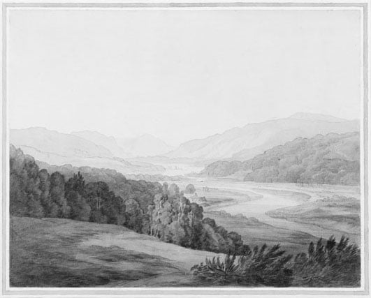 View down the Tay near Half-way House between Dunkeld and Blair of Athol