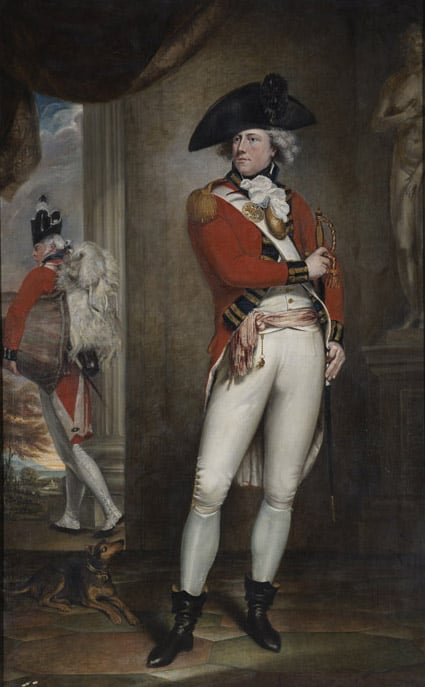 Portrait of Capt John Clayton Cowell, 1st (or the Royal) Regiment of Foot