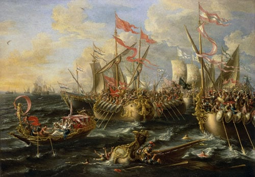 Collection of 79 marine paintings