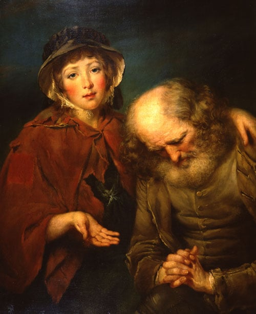 The Blind Beggar and His Daughter