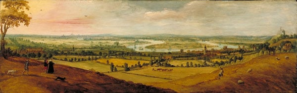 Prospect of London and the Thames from above Greenwich