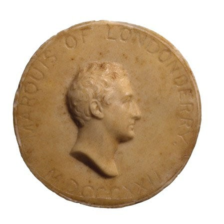 Wax medallion of 2nd Marquess of Londonderry