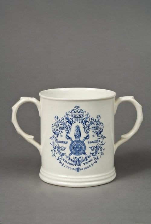 Collection of six Shropshire election jugs and mugs