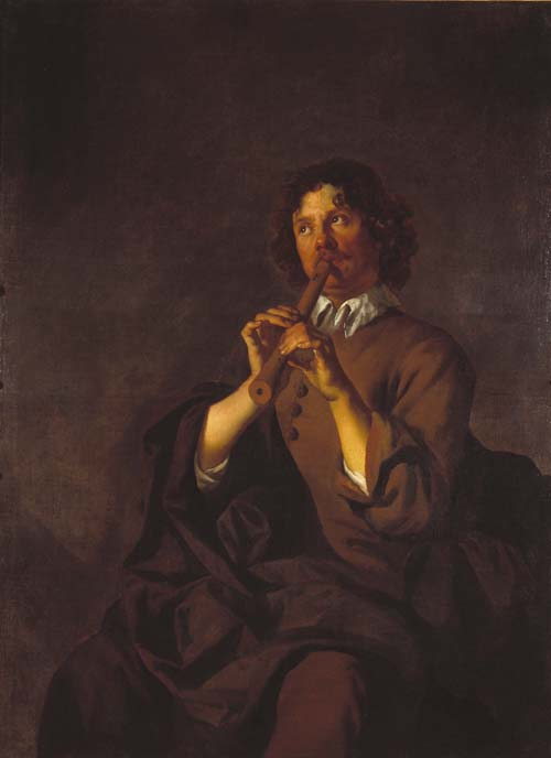 Boy Playing a Jew's Harp & Man Playing a Pipe
