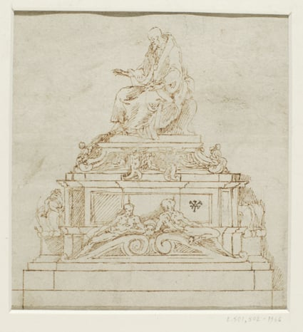 Two designs for the tomb of Pope Paul III