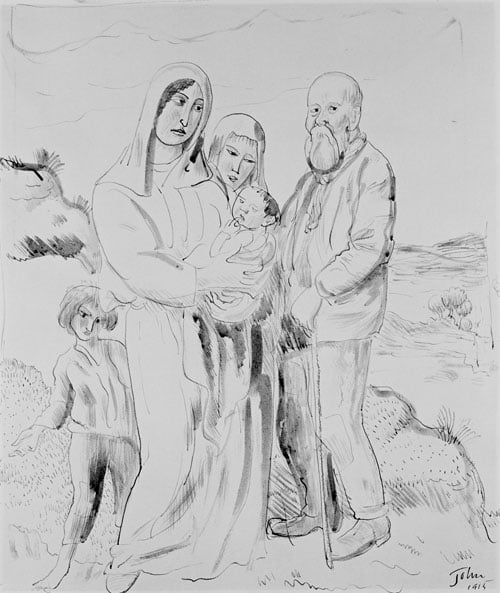 Poor Folk & Studies of Dorelia with a baby and child
