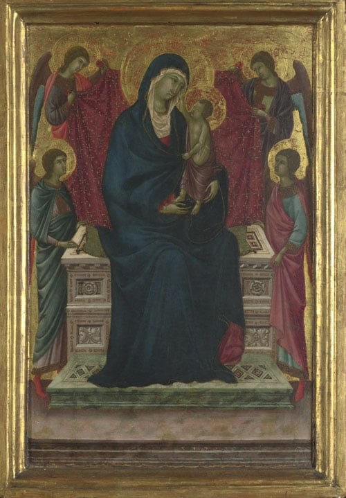 The Virgin and Child with Four Angels