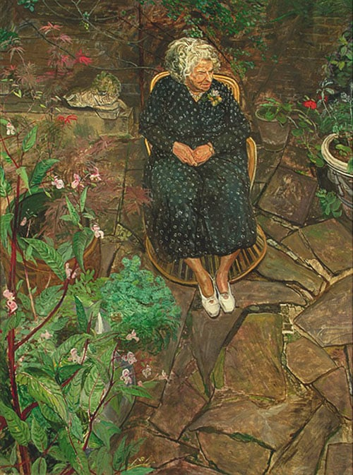 The Old Woman in the Garden No. 2