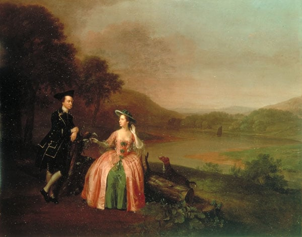 Sir George and Lady Strickland in the Grounds of Boynton Hall
