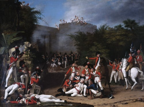 The Death of Colonel Moorhouse at the Storming of the Pettah Gate of Bangalore