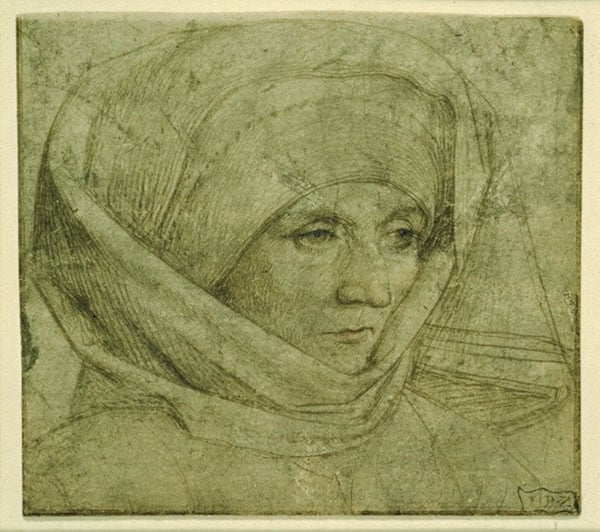 Head of a Woman in a Whimple Head-Dress
