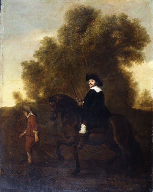 Man on Horseback with a Page