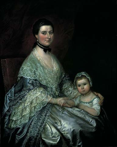 Portrait of Mrs Bedingfield and her Daughter