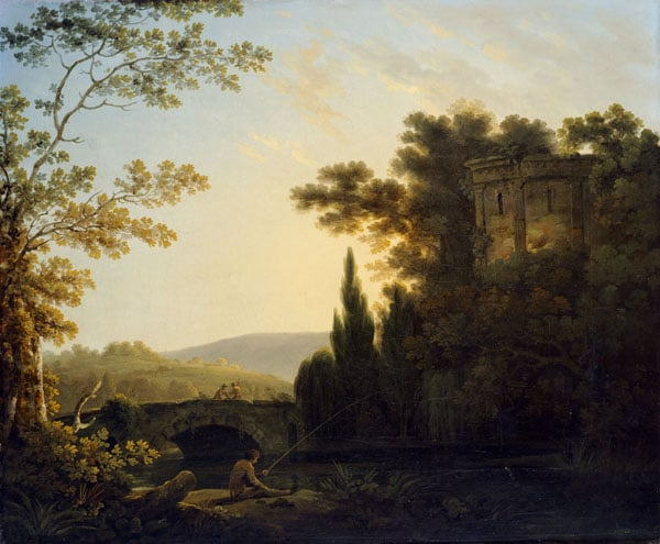 1) Landscape with Lake; 2) Landscape with Temple