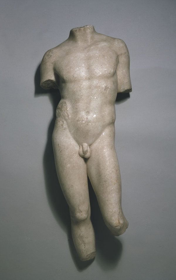 Statue of a nude youth