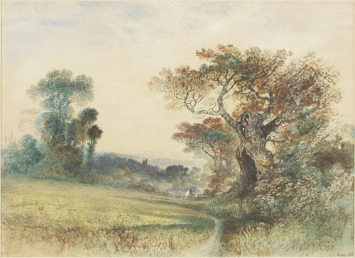 Landscape with Figures on a Stile