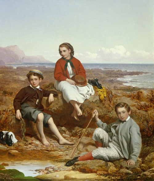 Portrait of Florence, Arthur and Charles Moore