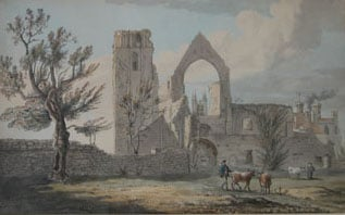 Three drawings of St Augustine's Abbey, Canterbury