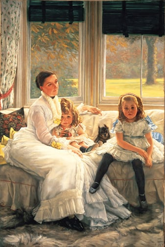 Mrs Chapple Gill and Two of Her Children