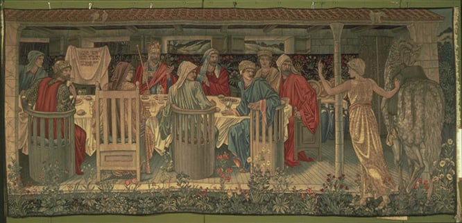 The Damsel of the San Graal Summons the Knights of the Round Table to the Quest (tapestry)
