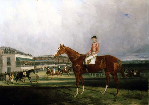 The Racehorse 'Millipede' on the Roodee, Chester