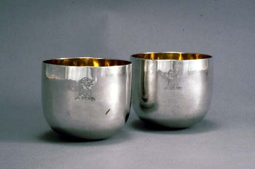 Pair of silver Tumbler Cups