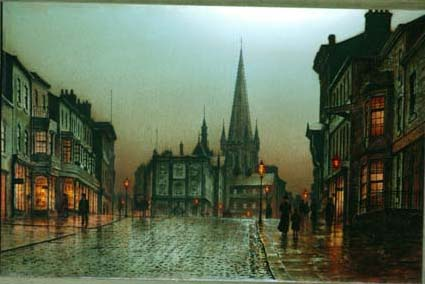 Upper Westgate, Wakefield, looking towards the Cathedral