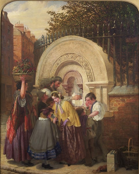The First Public Drinking Fountain