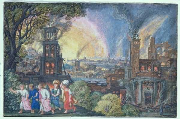 Angels Escourting Lot and His Family from Sodom