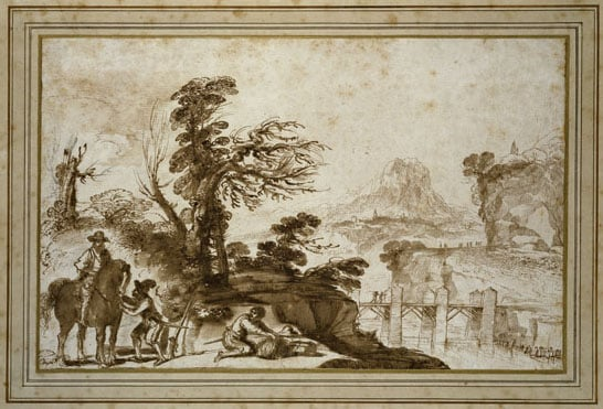 Landscape with a Horseman and Two Soldiers
