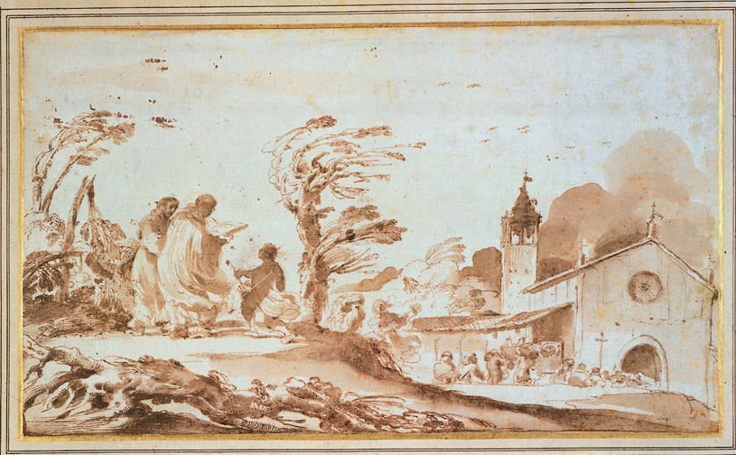 Landscape with a Funeral Procession