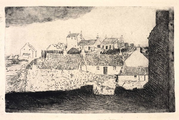 Collection of ten monotypes, drypoints and etchings