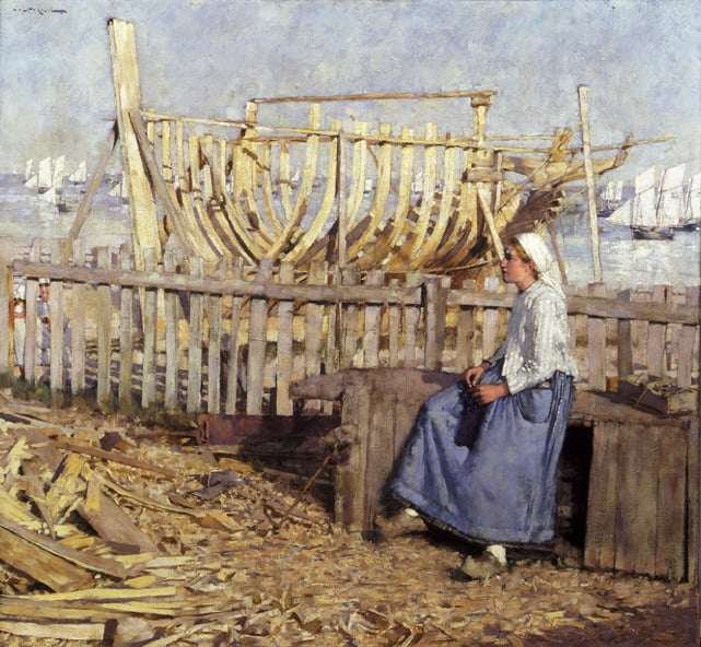 The Boatbuilder's Yard, Cancale, Brittany