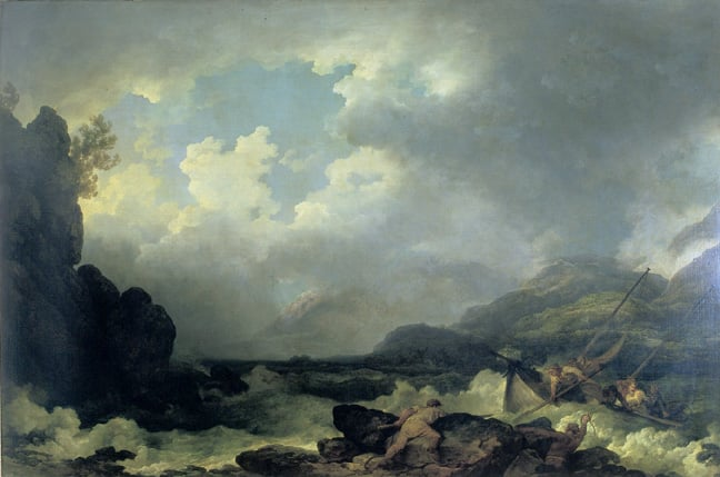 Belle Isle, Windermere, in a Storm & Belle Isle, Windermere, in a Calm
