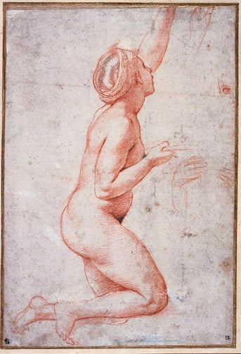 Kneeling Nude: Study for a Servant of Psyche