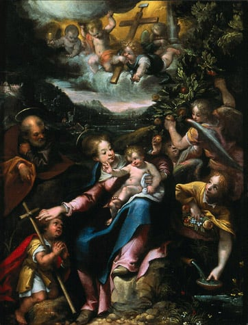 Holy Family with Saint John in a Landscape