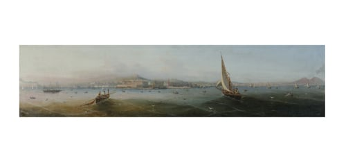 Pair of panoramic views of the Bay of Naples