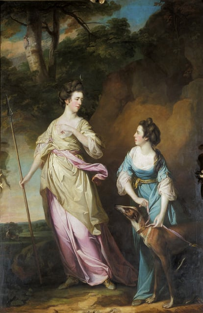 The Hon Lady Stanhope and the Countess of Effingham as Diana and her Companion